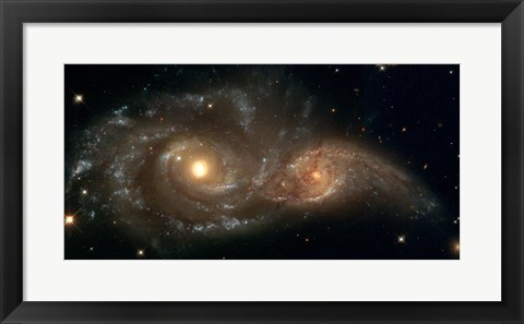 Framed Colliding Spiral Galaxies Print