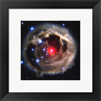 Framed Light Echo Around V838 Monocerotis Print