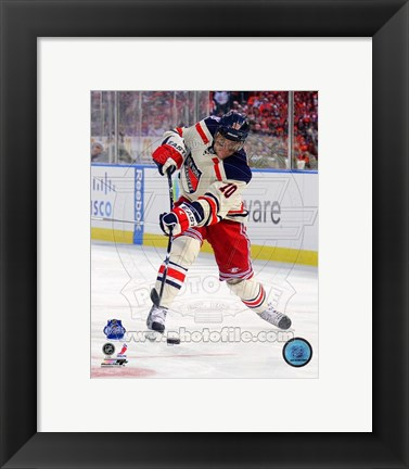 Framed Marian Gaborik 2012 NHL Winter Classic Action Print