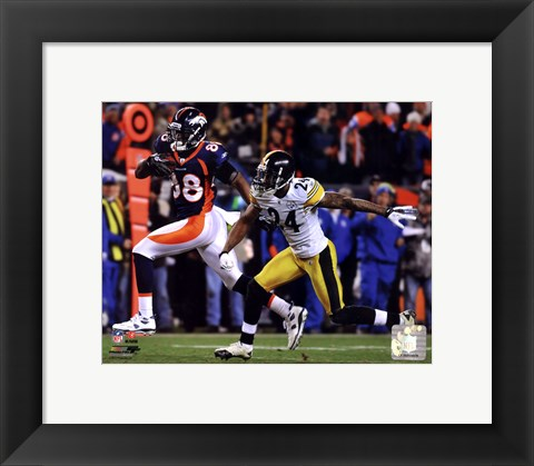 Framed Demaryius Thomas Game Winning Touchdown 2011 AFC Wild Card Playoff Action Print