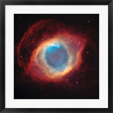 Framed Helix Nebula: a Gaseous Envelope Expelled By a Dying Star Print