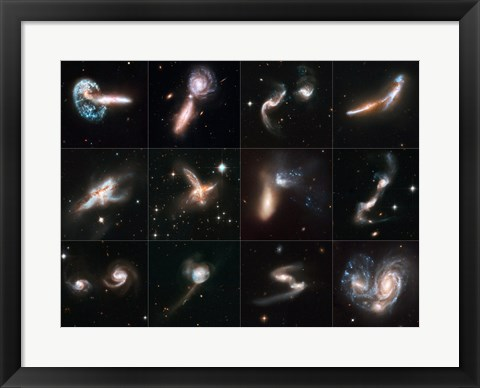 Framed Colliding Galaxies Print