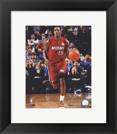 Framed Mario Chalmers 2011-12 Action Print