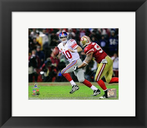 Framed Eli Manning NFC Championship Game Action Print