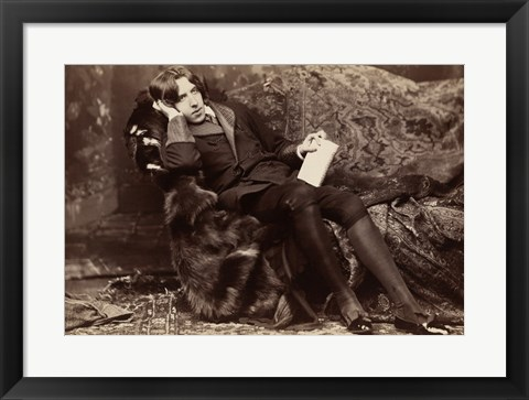 Framed Oscar Wilde Portrait Print