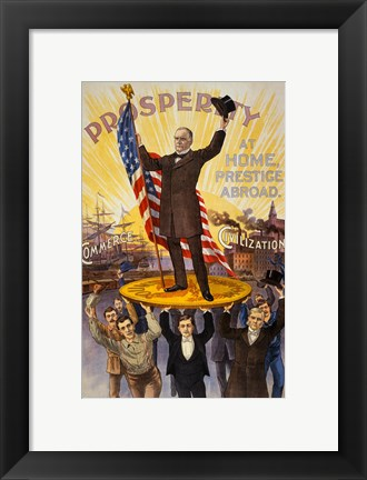 Framed William McKinley Campaign Poster Print