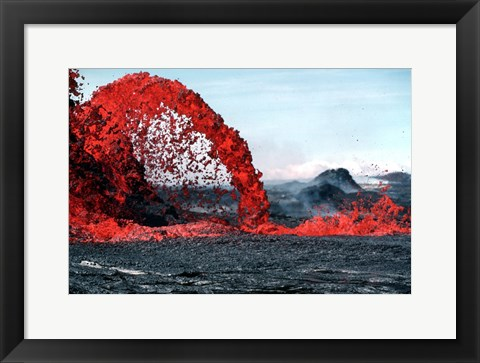 Framed Arching fountain of a Pahoehoe Print