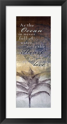 Framed Ocean Heart Love Print