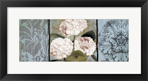 Framed Pink Hydrangeas Panel I Print