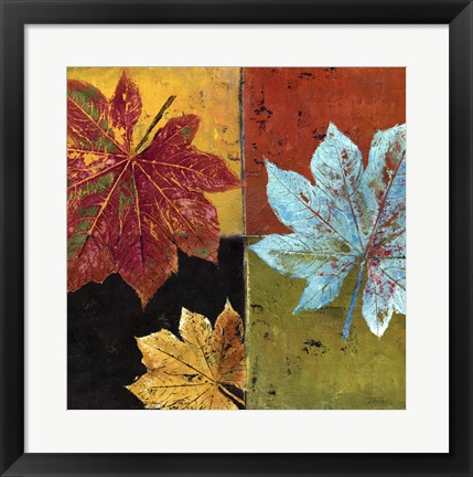 Framed colorful maple II Print