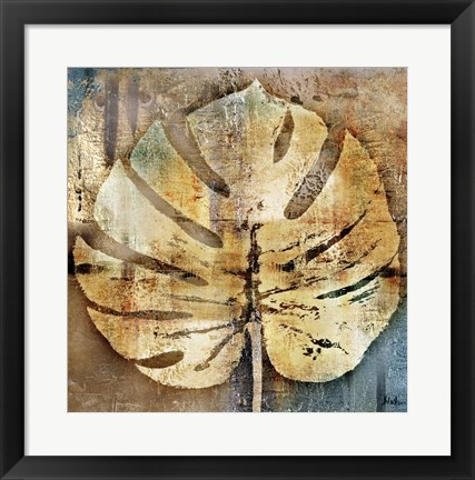 Framed gold leaves I Print