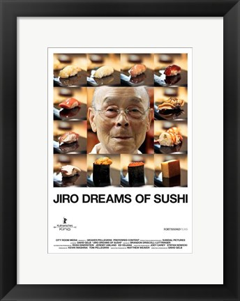 Framed Jiro Dreams of Sushi Print