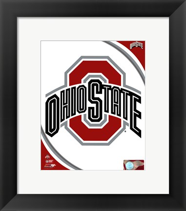 Framed Ohio State University Buckeyes Team Logo Print