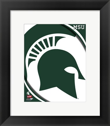 Framed Michigan State University Spartans Team Logo Print