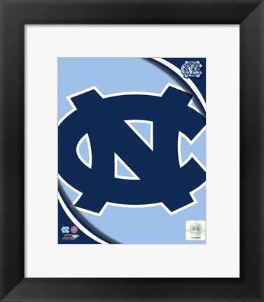Framed University of North Carolina Tar Heels Team Logo Print