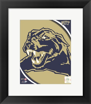 Framed University of Pittsburgh Panthers Team Logo Print