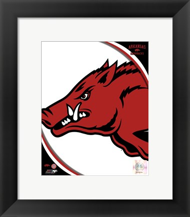 Framed University of Arkansas Razorbacks Team Logo Print