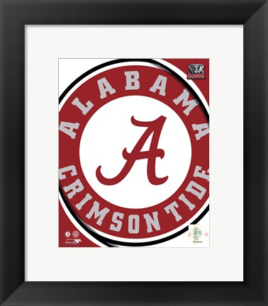Framed University of Alabama Crimson Tide Team Logo Print