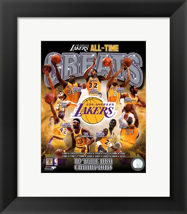 Framed Los Angeles Lakers All Time Greats Composite Print