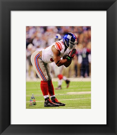 Framed Justin Tuck Super Bowl XLVI Print