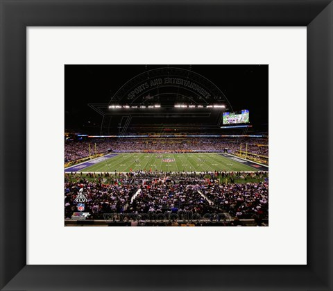 Framed Lucas Oil Stadium Super Bowl XLVI Print