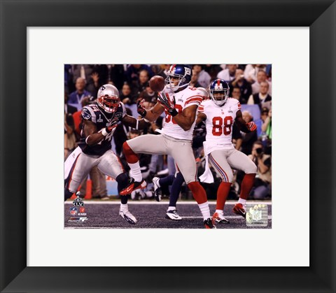 Framed Victor Cruz Touchdown Catch Super Bowl XLVI Print
