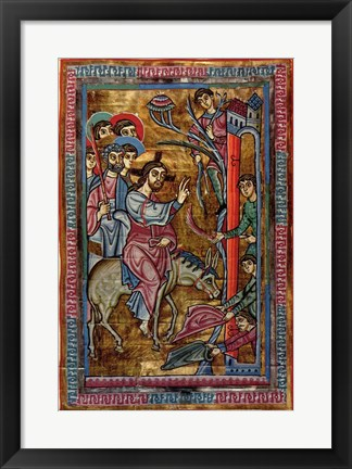 Framed Christ's Entry Into Jerusalem Print