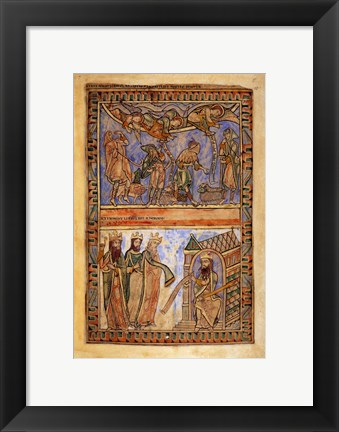 Framed Annunciation to the Shepherds and the Magi before Herod Print