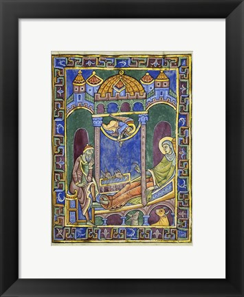 Framed Birth of Christ Print