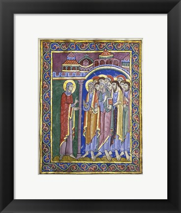 Framed Mary Magdalene Tells the Disciples Print