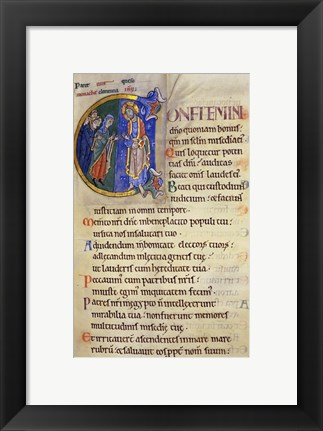 Framed Initial C from 105th Psalm In Albani Psalter Print