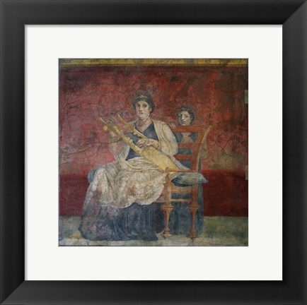 Framed Wall Painting from a Reception Hall, Villa of P. Fannius Synistor at Boscoreale Print