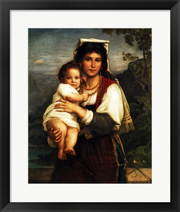 Framed Young Roman Woman with Child Print