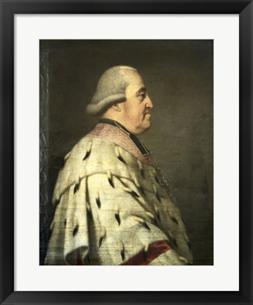 Framed Portrait of Prince Clemens Wenceslaus of Saxony Print