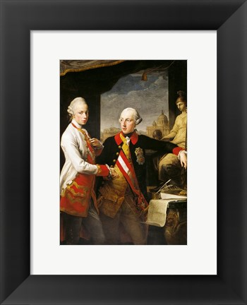 Framed Portrait of Emperor Joseph II and his younger brother Grand Duke Leopold of Tuscany Print