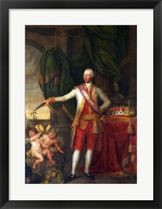 Framed Portrait of the Emperor Joseph II Print