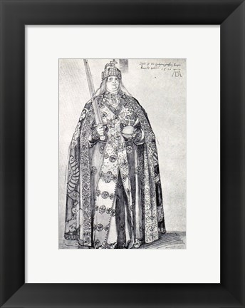 Framed Study for the painting of Charlemagne Print