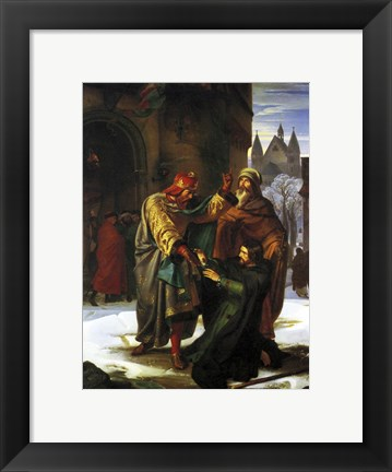 Framed Reconciliation of Otto the Great with his Brother Henry Print