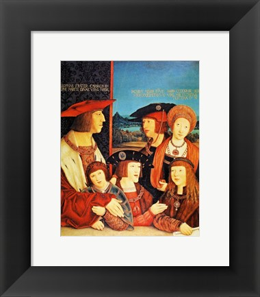Framed Portrait of Emperor Maximilian and his family Print