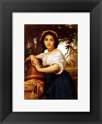 Framed Young Roman water carrier Print