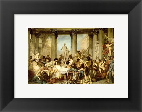 Framed Romans of the Decadence Print