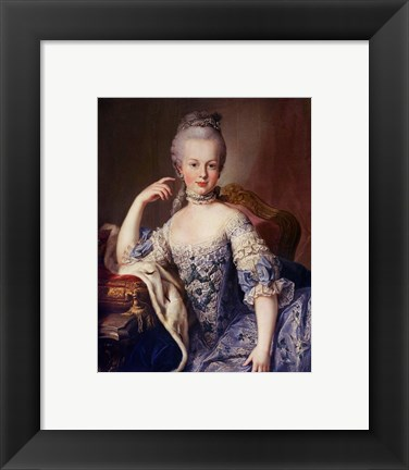 Framed Portrait of Marie Antoinette Print
