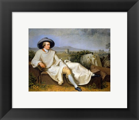Framed Goethe in the Roman Campagna Print