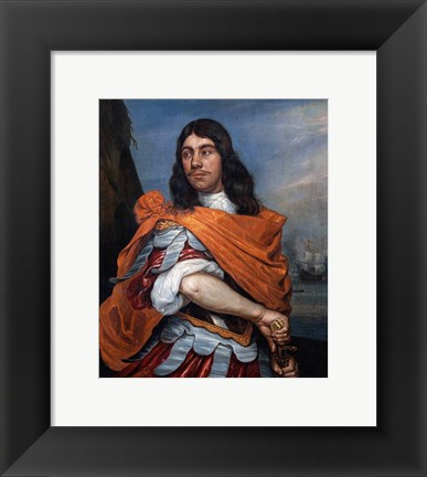 Framed Cornelis Tromp in Roman Costume Print