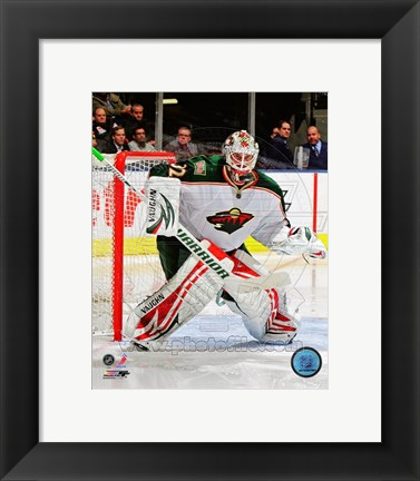 Framed Niklas Backstrom 2011-12 Action Print