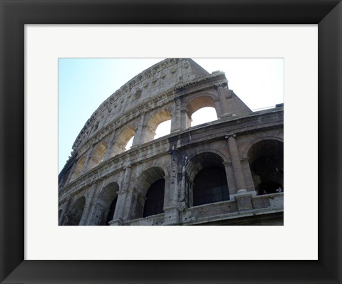 Framed Low Angle View of the Colosseum Print