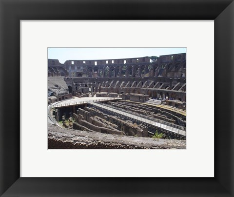 Framed Colosseum in Rome side view Print