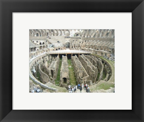 Framed Colosseum Interior Print