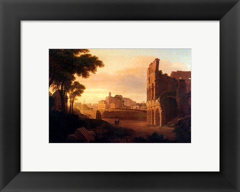 Framed Rome, the Colosseum and the Roman Forum Print