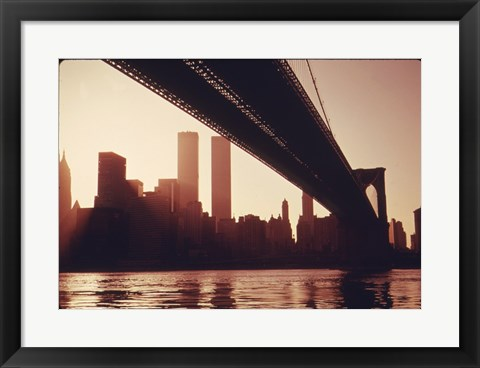 Framed Brooklyn Bridge Across the East River Print